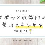 《 2019. 2月 》ズボラ× 敏感肌のアラサーの愛用スキンケアレポート 使用感とおすすめアイテム